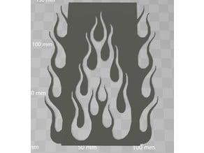 Airbrush stencil::: flame 2