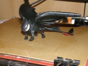 Nightfury Dragon (Nachtschatten Drache) from How to train a Dragon! (Die Drachenreiter von Berk)