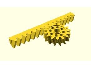 Parametrische Zahnstange mit Ritzel / Parametric Gear Rack and Pinion