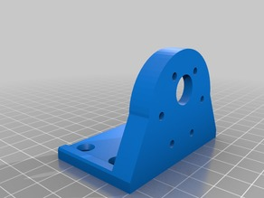 Gear motor mounting. Hole circle 31mm M3 (60 ° 6 holes). Outside diameter 37mm bore 12mm.