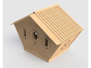 Chalet Bird House feeder
