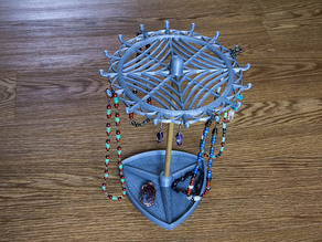 Remix Necklace Stand with spider web at top