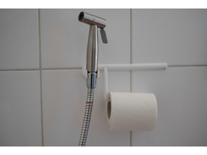 Bath toilet paper holder with shower head holder or bidet