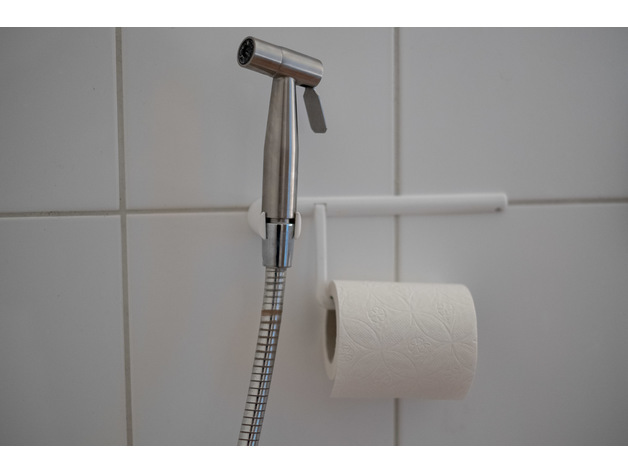 Bath Toilet Paper Holder With Shower Head Holder Or Bidet By