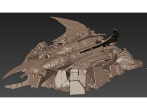 Crashed Razorwing Jet Fighter - 40k