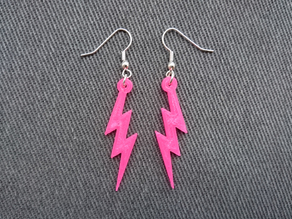 Simple Lightning Earrings