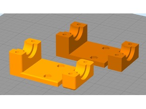 Monoprice MP Select Mini E3D Hotend Adapter - Filleted Remix