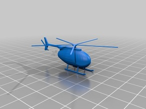 Simple N scale helicopter