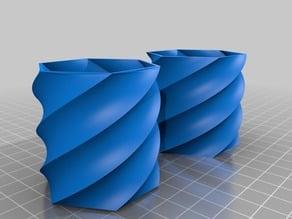parametric swirl container