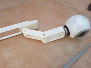 Double pendulum arm for Mavic Pro Camera attachment