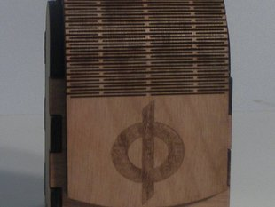 Lasercut Deckbox with Living Hinge