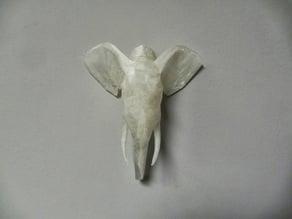 Geometric Low Poly Elephant Head