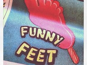 DIY Funny Feet Ice Cream Mold