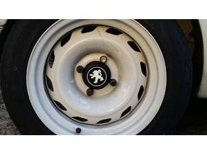 Peugeot 205 wheels centre caps