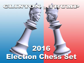 Clinton vs Trump Chess Set