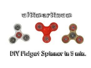 DIY Fidget Spinner in 5min.