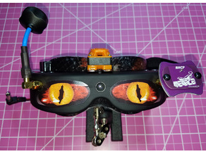 Skyzone SKY01 Goggle / FatShark Dominator Headset Faceplate Mod Fan Spacer