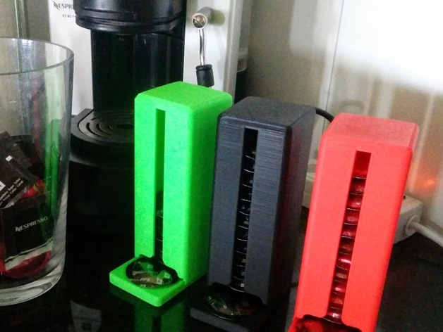Nespresso coffee capsule dispenser by xxdavexx - Thingiverse