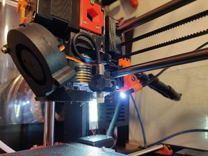 3D printer nozzle camera mount