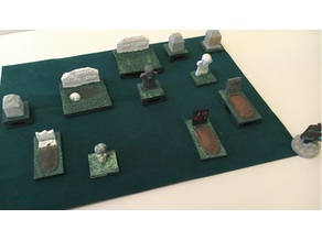 Graveyard Tombstone Miniatures with Openlock