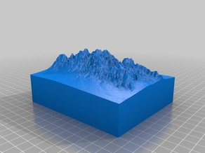 Organ Mountains (from: Terrain2STL)