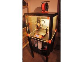 Lack Table Printer Enclosure