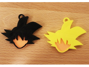 Goku Keychain (Fitted, Two Pieces)