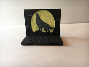 Miniature Wolf Mural with Openlock