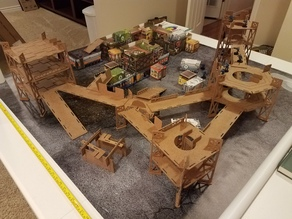 Tabletop Industrial Terrain CNC/Laser Cut