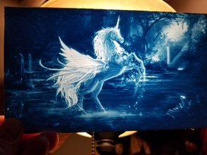 Unicorn Pegasus Lithophane