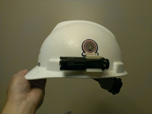 Hardhat Flashlight Clip