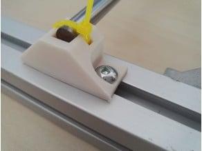Customizable y rod holder for aluminium extrusion based frames