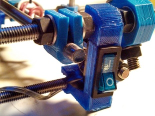 Parametric Prusa Chassis-mounted Power Switch mount
