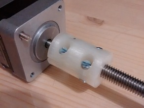 Parametric Z-axis coupler (stepper and threaded rod coupling)