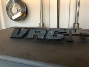 VR6T car grill logo