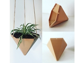 Hexagonal Based Pyramid Hanging Planter
