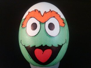 Eggbot - Oscar the Grouch