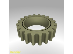 Rounded Gear Fidget Ring - Size 7