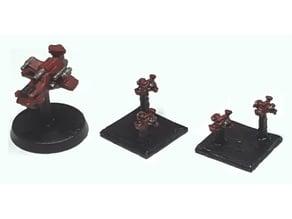 Battlefleet Gothic Scale Thunderhawk Ordinance Proxy