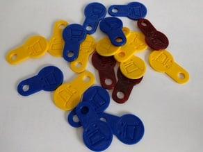 shopping cart euro coin key chain
