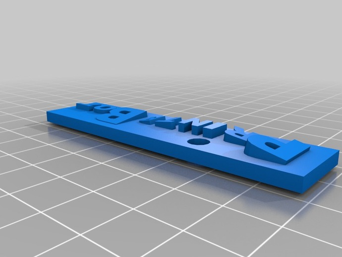 PrintrBot name tag by msurguy - Thingiverse