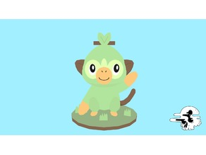 Grookey Low-Poly Fan Art