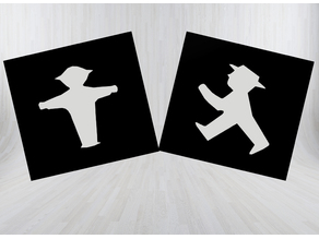 Ampelmännchen Platte /  Traffic Light Figure Plate
