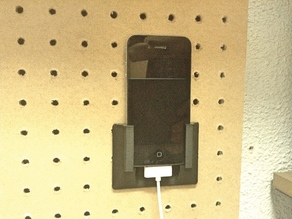 iPhone 4 pegboard holder