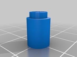 Tentecylinder 1x1 My Customized OpenSCAD Tente brick generator / Generador de ladrillos TENTE