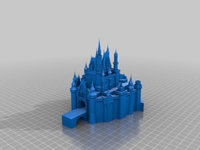 Disney Castle w/ Solid Bridge