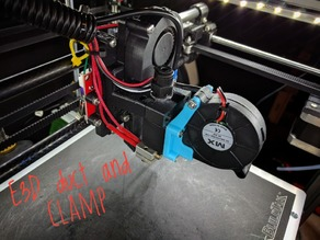 Hypercube E3Dv6 AIO Fan Duct & Clamp
