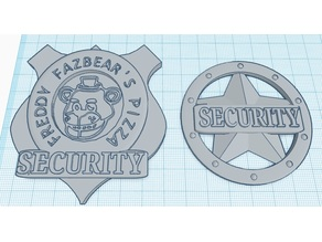 Five Nights At Freddy's Security Guard Badges