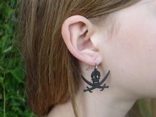 Jolly Roger Pirate Earring (Jack Rackham Style)