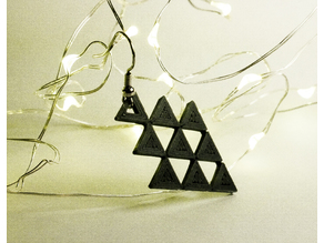 Triangle Arrow Dangle Earring